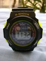 ÚJ ! SZUPER SPORT óra - LCD / kijelző, dátum, ébresztő funkció STB. R-SHOCK