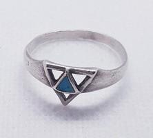 Türkiz köves ezüst gyűrű