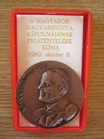 II. János Pál pápa bronz érme emlékérem 1980.