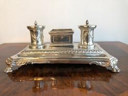 3. György Korabeli Londoni Asztali Ezüst Tintatartó