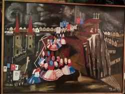 Olaj-karton festmény