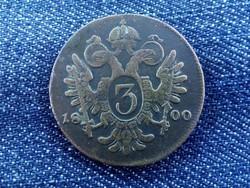 I. Ferenc 3 krajcár 1800 B /id1387/