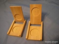 Érme tartók egyedi erős fából  nagyméretű kapszula tartó belső átmérő 45 mm