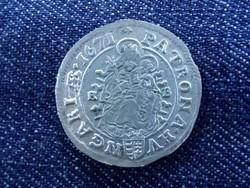 I. Lipót ezüst 6 krajcár KB 1671 /id565/