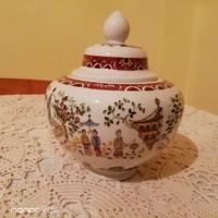 Német Unterweisbach kínai mintás fedeles váza