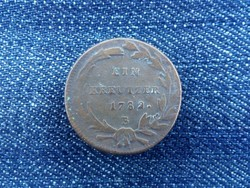 II. József 1 krajcár 1782 B