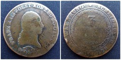 3 krajcár 1812 B