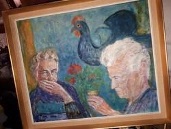 T Tibor olaj fa festmény