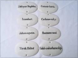 Zsolnay szívpecsétes porcelán táblák !