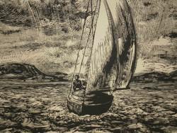 Csanády András (1929-) : Hullámos vízen / Balaton