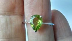 Peridot 925 gyűrű