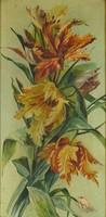 0Q554 Ismeretlen festő : Tulipánok