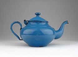 0U523 Régi zománcozott kék teáskanna