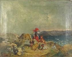0P080 Hravela jelzéssel : Hajóra várva 1888