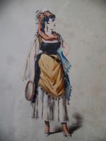 Antony Paul Emile MORLON (1868-1905) francia festőművész - Cigánylány