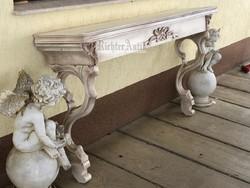 Provence bútor, antikolt konzol aszta nagyméretű.