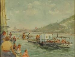 Magyar művész 1958 : Pesti kikötő 1958