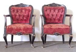 0U557 Régi neobarokk karfás fotel pár
