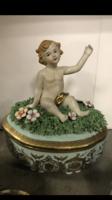 Luigi fabris style Porcelán bonbonier