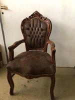 Faragott szék barna huzattal