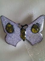 Régi zománc pillangó bross