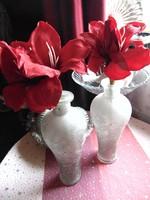 2 db antikolt üveg váza