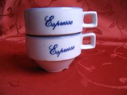 2 db. Espresso-s csésze együtt
