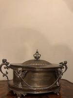 IGAZI RITKASÁG!!!GYÖNYÖRŰBécsi ezüst 1804 empire kínáló