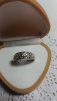 Régi áttört mintás ezüst gyűrű