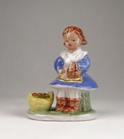 0U627 Art deco Komlós jellegű húsvéti kislány