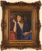 Glatter Ármin (1861–1933): Cigarettázó nő