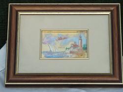 Arany füstfóliára festett kép