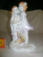 Kislányok - porcelán figura, nipp