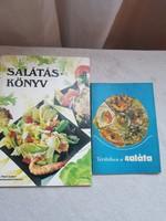 Salátás könyv-recept fűzet. Vegetáriánus.
