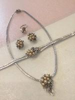 Eladó gyönyörű Bécsi ezüst ékszer szett !