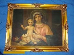 Papp Sándor: Madonna gyermekével.
