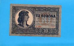 Tanácsköztársaság ropogós 10 Korona 1919