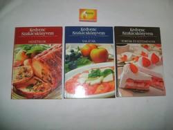Kedvenc szakácskönyvem sorozat három kötete - újszerűek