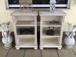 Provence bútor, antikolt fehér polc 2db.