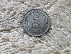 KK89 1950 Malaya 5 cents