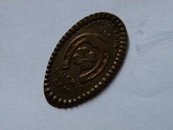 KK93 1898 Indián fejes cent préselt szerencse érme USA