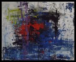 """"""" Vizivilág """" Koso festmény ,hatalmas 80 x 100 cm ,keretes akció"""