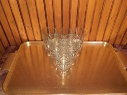 6 db retro vizes pohár - üvegpohár készlet