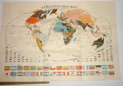 1923 Világ térkép Kogutowicz zsebatlasza 1924-es kiadás