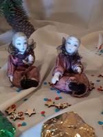 Velencei karnevál porcelánbaba pár, gyűjtői darab