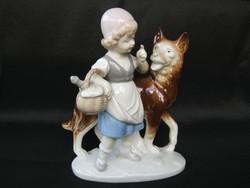 Piroska és a farkas német porcelán