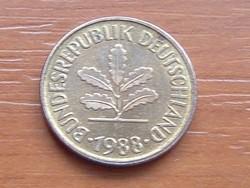 NÉMET NSZK 5 PFENNIG 1988  F