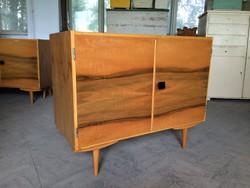 Retro régi kétajtós komód kis szekrény 70-es évek