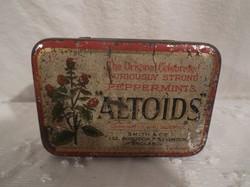 1930 - as - Fém cukorkás doboz 1930  Angol 8 x 5,5 x 2 cm