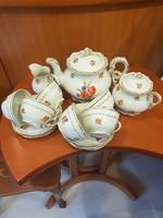 Zsolnay Pipacs virágos teás készlet
